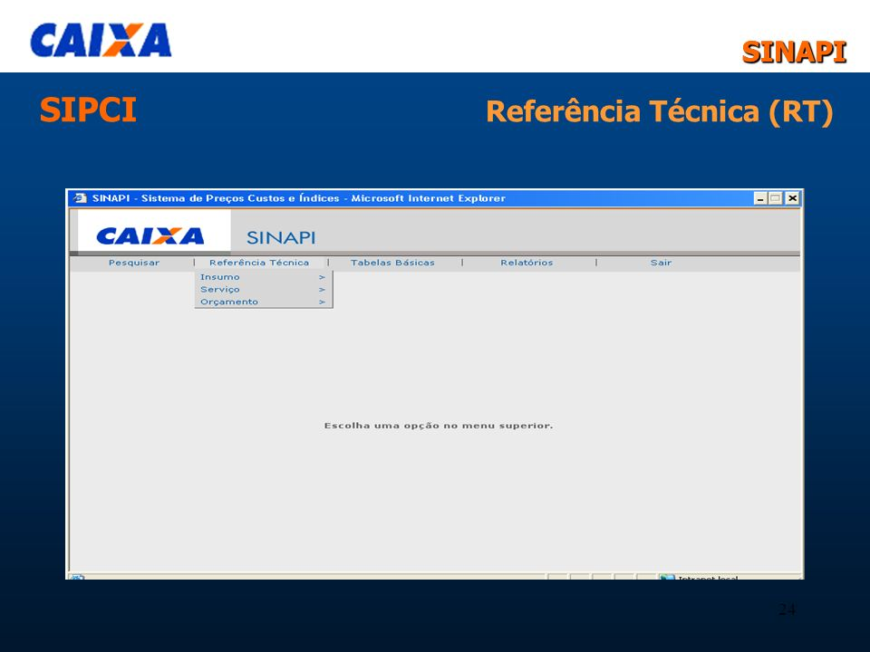 SINAPISINAPI 24 SIPCI Referência Técnica (RT)
