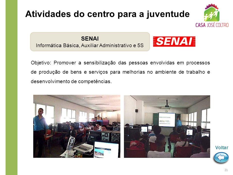 Objetivo: Promover a sensibilização das pessoas envolvidas em processos de produção de bens e serviços para melhorias no ambiente de trabalho e desenv