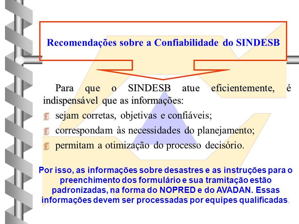SISTEMA DE INFORMAÇÕES SOBRE DESASTRES NO BRASIL SINDESB