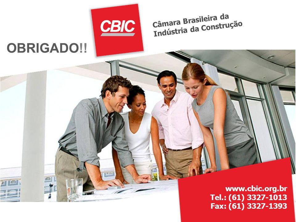 Câmara Brasileira da Indústria da Construção OBRIGADO!.