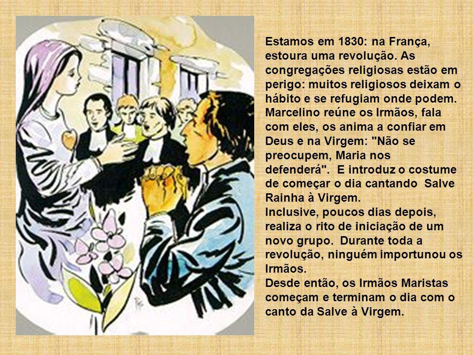 Estamos em 1830: na França, estoura uma revolução. As congregações religiosas estão em perigo: muitos religiosos deixam o hábito e se refugiam onde po