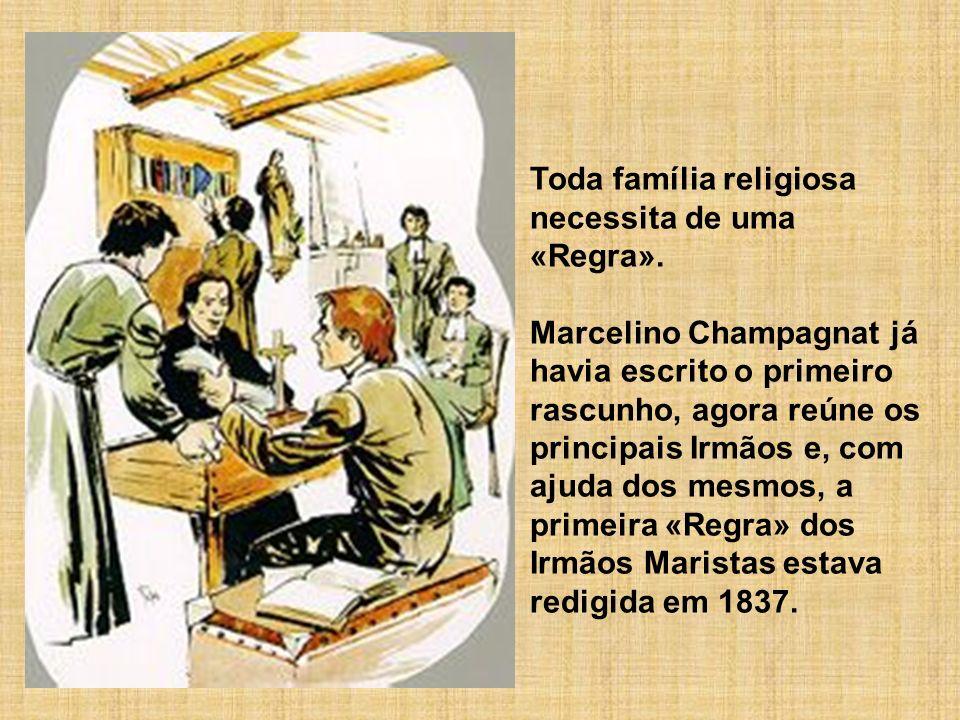 Toda família religiosa necessita de uma «Regra». Marcelino Champagnat já havia escrito o primeiro rascunho, agora reúne os principais Irmãos e, com aj