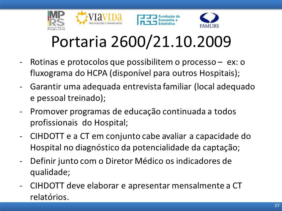 -Rotinas e protocolos que possibilitem o processo – ex: o fluxograma do HCPA (disponível para outros Hospitais); -Garantir uma adequada entrevista fam
