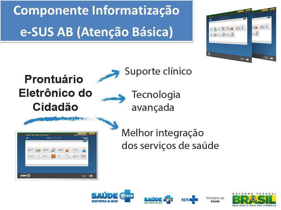 Componente Informatização e-SUS AB (Atenção Básica) Componente Informatização e-SUS AB (Atenção Básica)