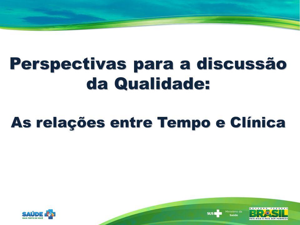Perspectivas para a discussão da Qualidade: As relações entre Tempo e Clínica