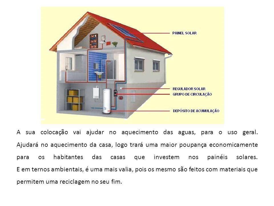 A sua colocação vai ajudar no aquecimento das aguas, para o uso geral. Ajudará no aquecimento da casa, logo trará uma maior poupança economicamente pa