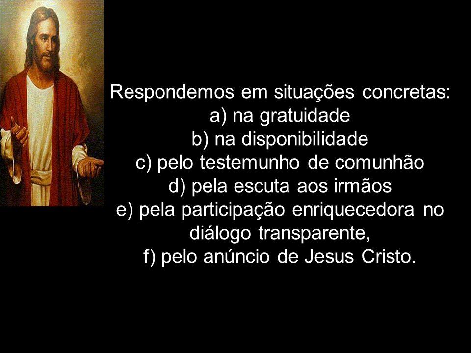4º - Na chegada nas casas: a)Cumprimentar as pessoas e apresentar- se como Missionário Católico da Paróquia São Pedro Apóstolo, dizendo: A paz do Senhor Jesus Cristo esteja nesta casa.