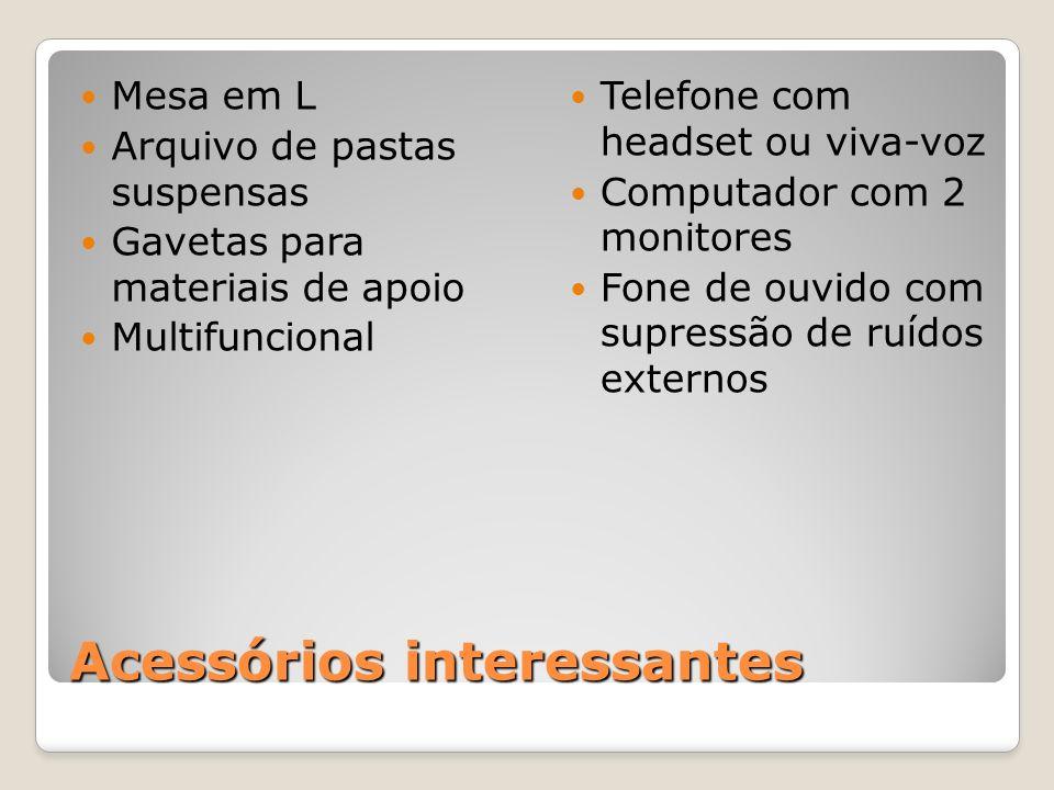 Acessórios interessantes Mesa em L Arquivo de pastas suspensas Gavetas para materiais de apoio Multifuncional Telefone com headset ou viva-voz Computa