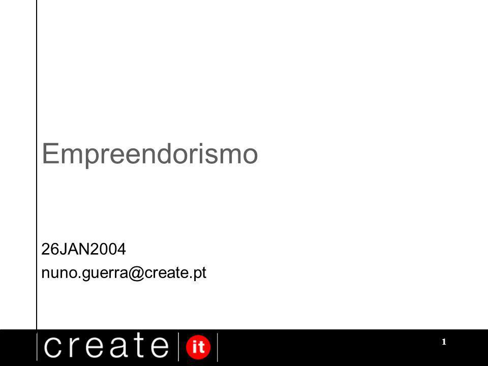 1 Empreendorismo 26JAN2004 nuno.guerra@create.pt