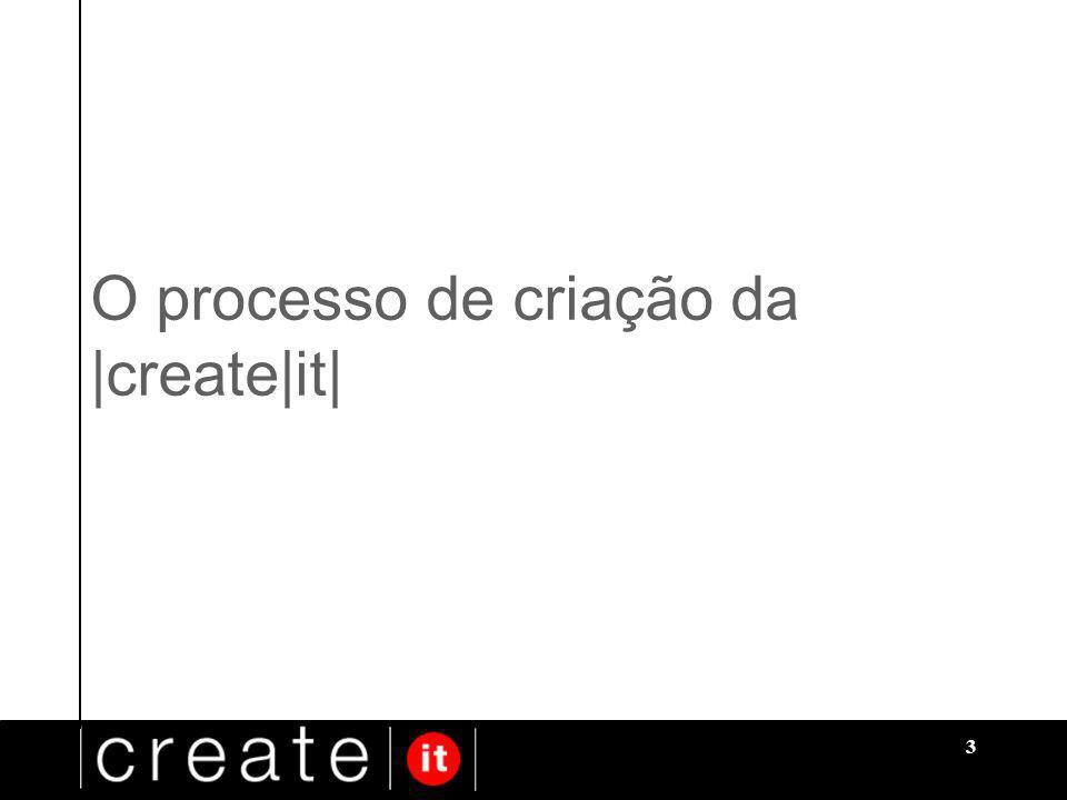 3 O processo de criação da |create|it|