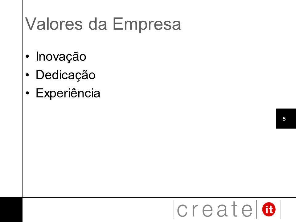 5 Valores da Empresa Inovação Dedicação Experiência