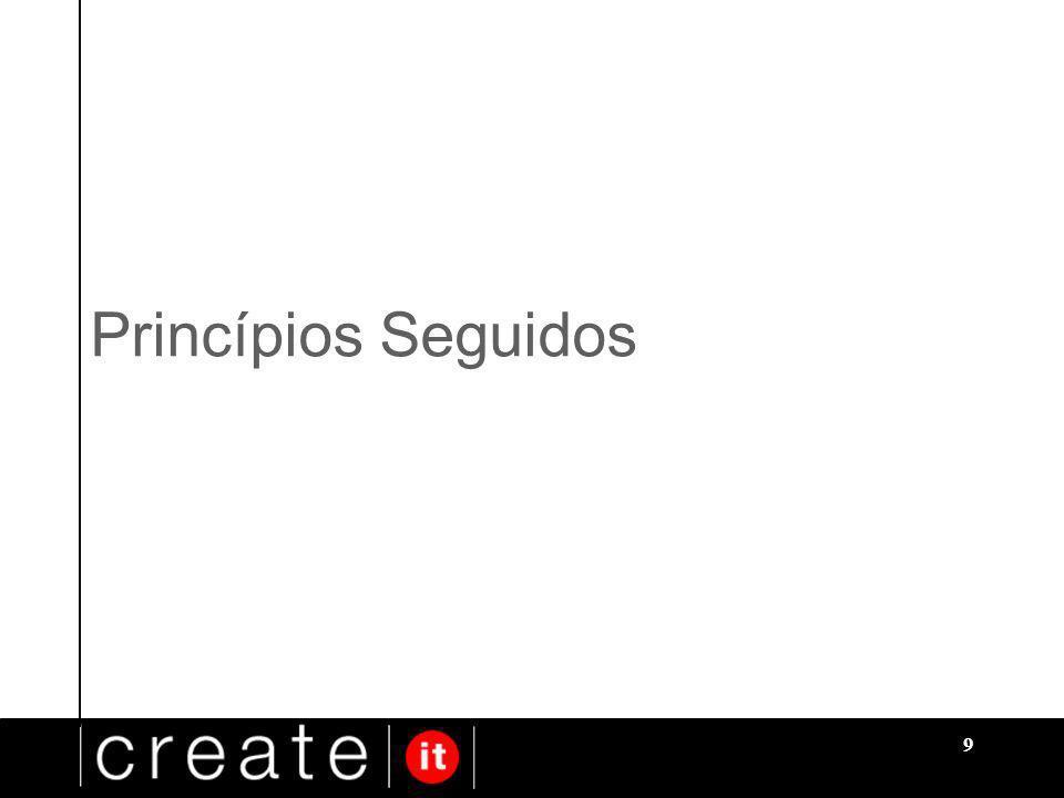 9 Princípios Seguidos
