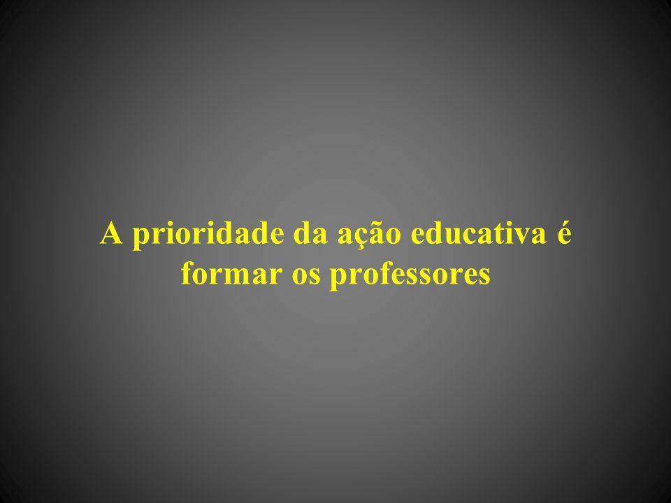 A prioridade da ação educativa é formar os professores