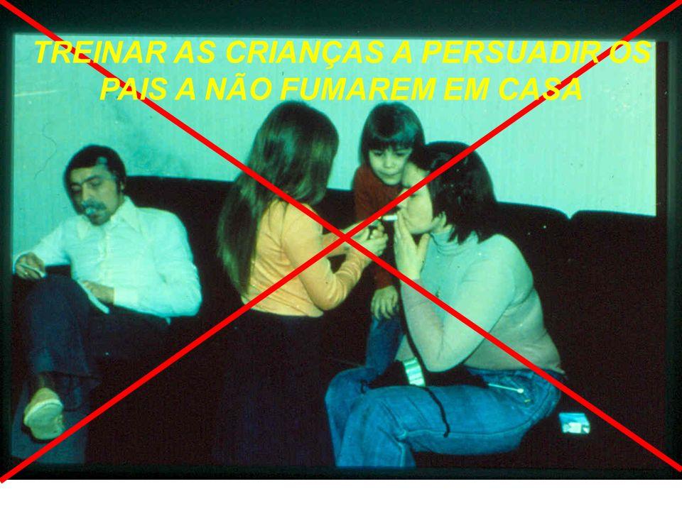 TREINAR AS CRIANÇAS A PERSUADIR OS PAIS A NÃO FUMAREM EM CASA