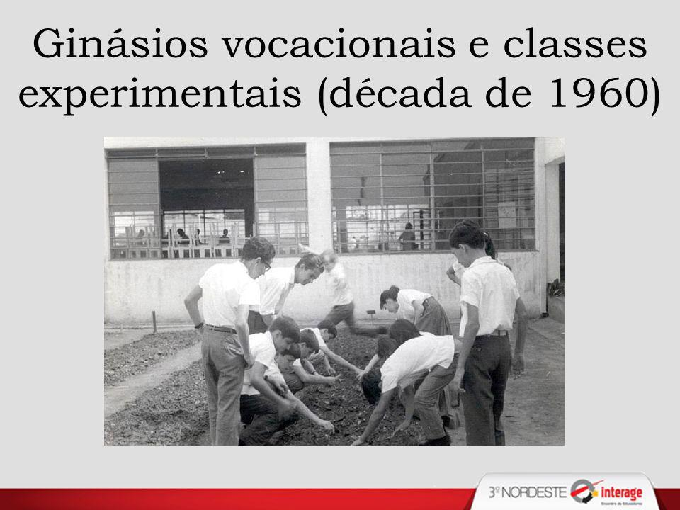 Ginásios vocacionais e classes experimentais (década de 1960)