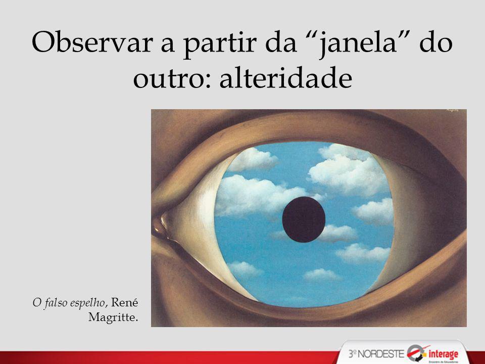 Observar a partir da janela do outro: alteridade O falso espelho, René Magritte.