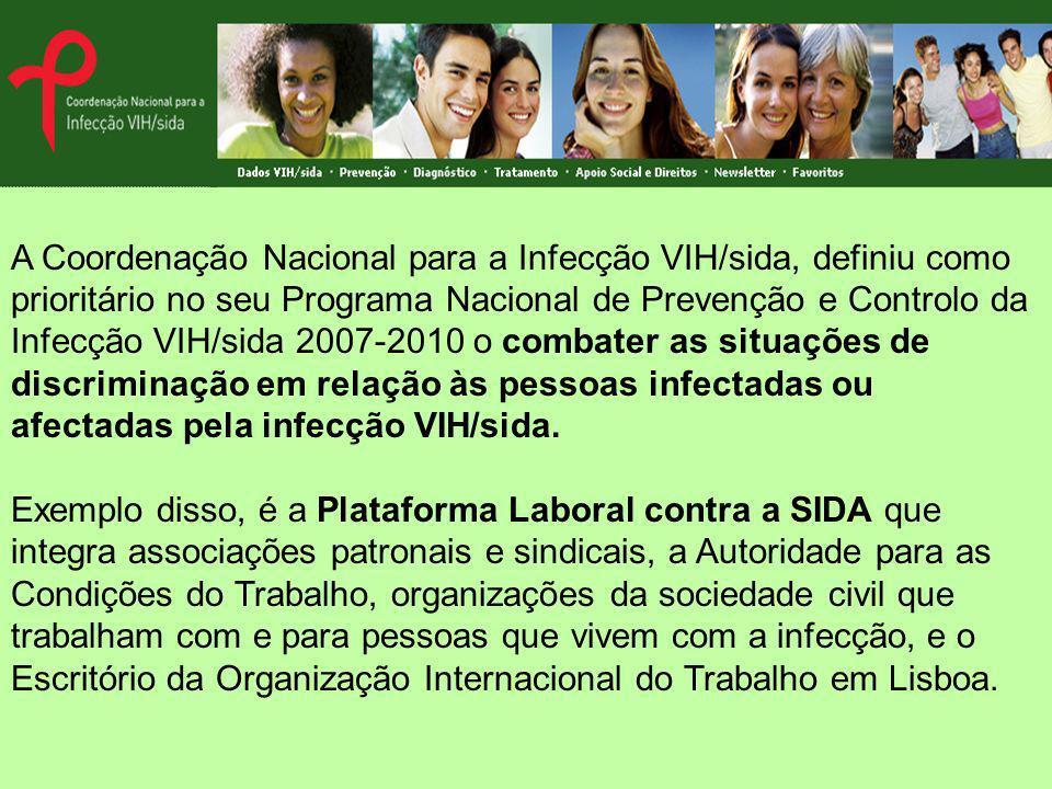 A Coordenação Nacional para a Infecção VIH/sida, definiu como prioritário no seu Programa Nacional de Prevenção e Controlo da Infecção VIH/sida 2007-2