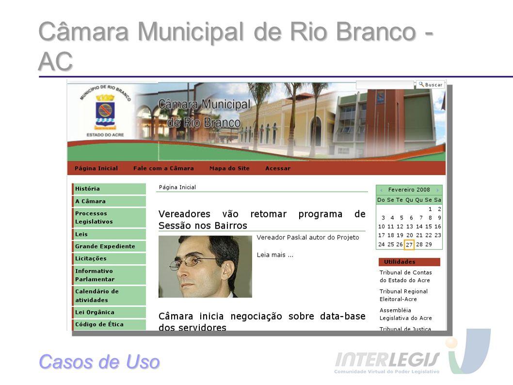 Câmara Municipal de Rio Branco - AC Casos de Uso
