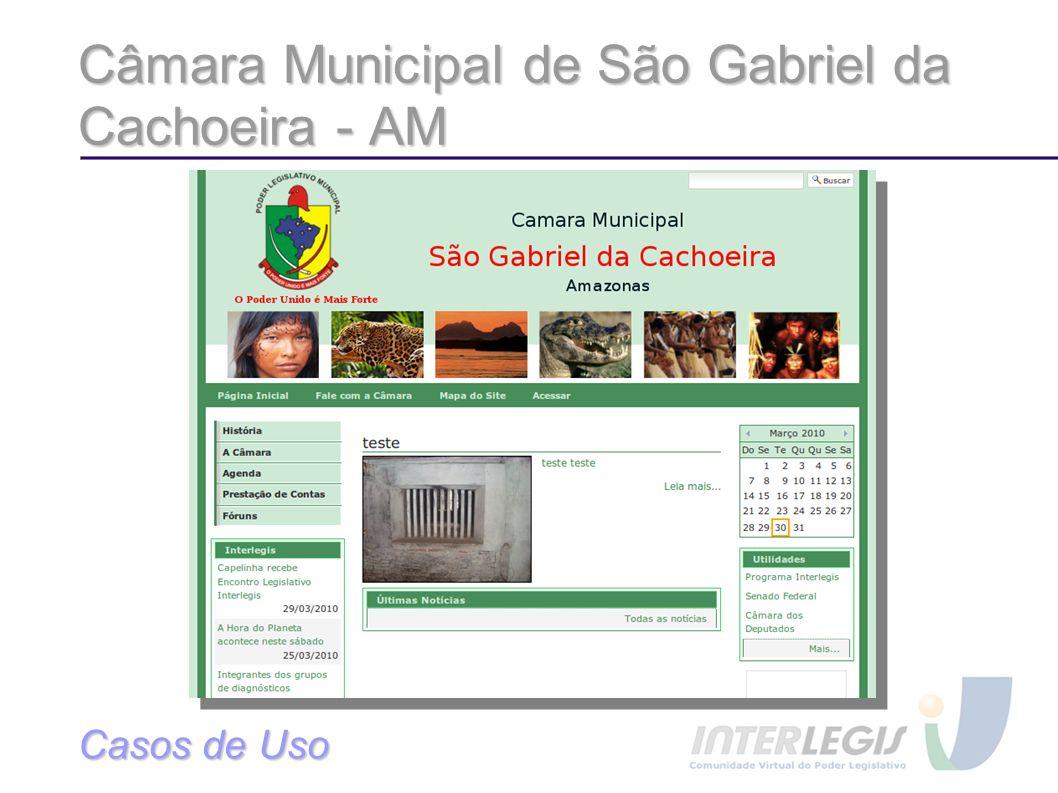 Câmara Municipal de São Gabriel da Cachoeira - AM Casos de Uso