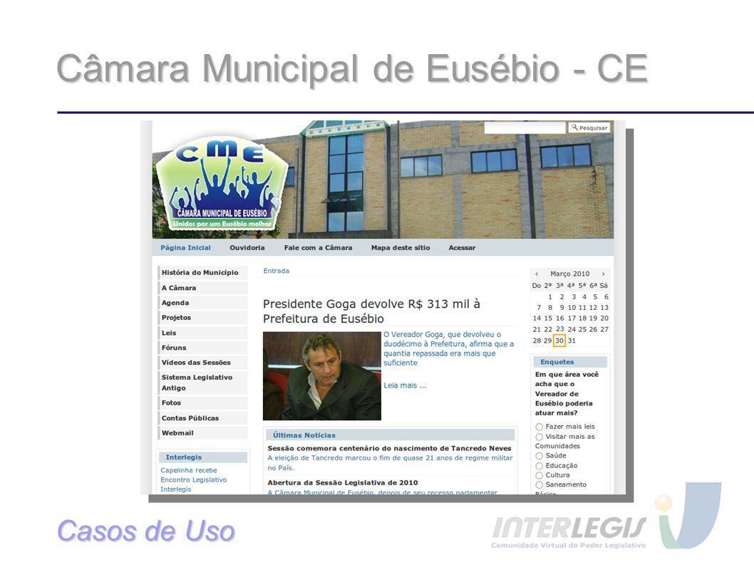 Câmara Municipal de Eusébio - CE Casos de Uso