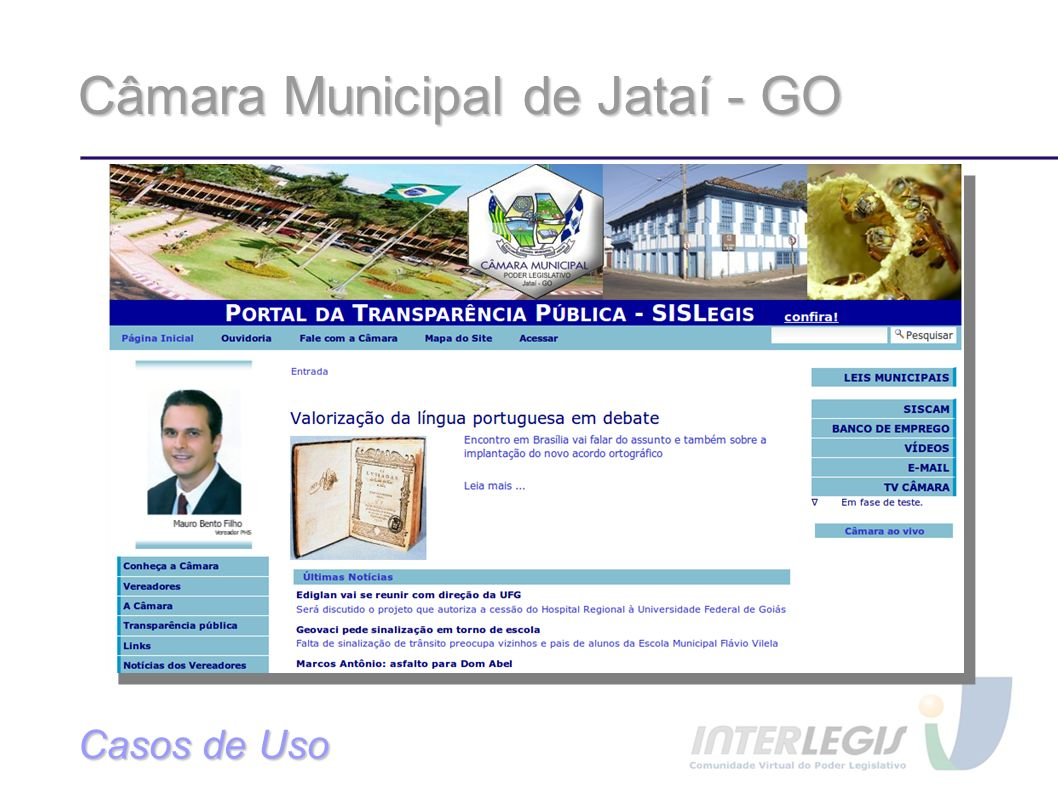 Câmara Municipal de Jataí - GO Casos de Uso