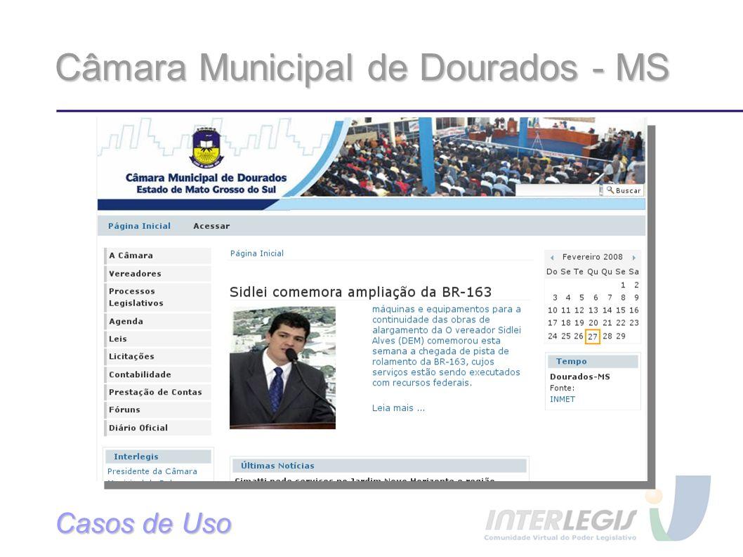 Câmara Municipal de Dourados - MS Casos de Uso