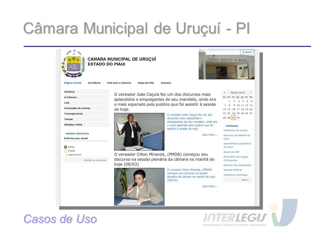 Câmara Municipal de Uruçuí - PI Casos de Uso