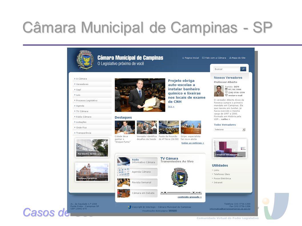 Câmara Municipal de Campinas - SP Casos de Uso