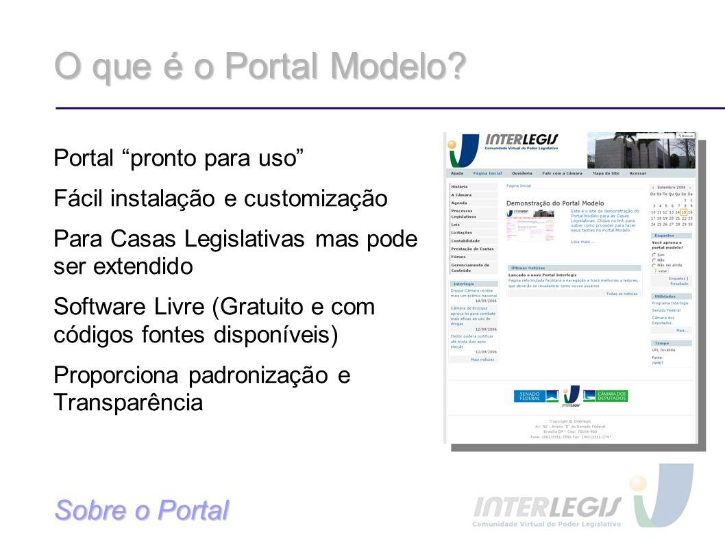 O que é o Portal Modelo.