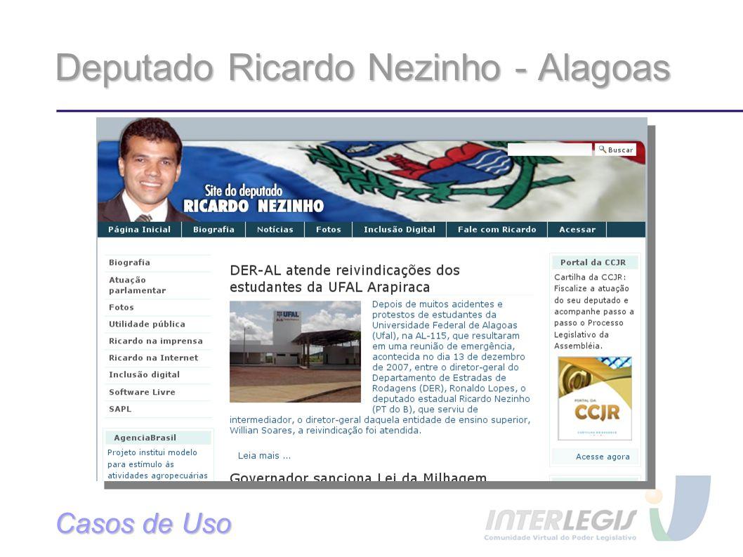 Deputado Ricardo Nezinho - Alagoas Casos de Uso