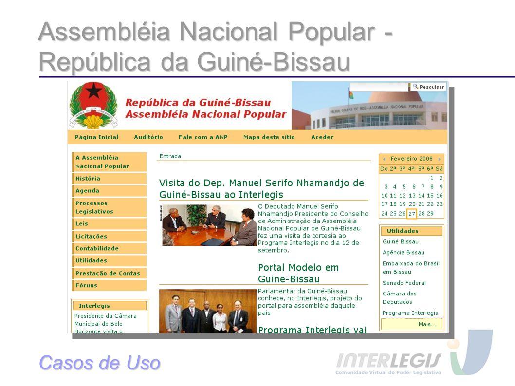 Assembléia Nacional Popular - República da Guiné-Bissau Casos de Uso