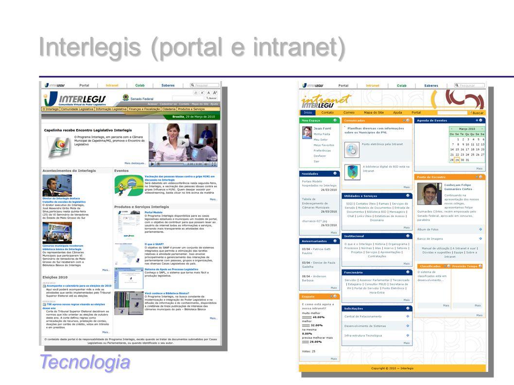 Interlegis (portal e intranet) Tecnologia