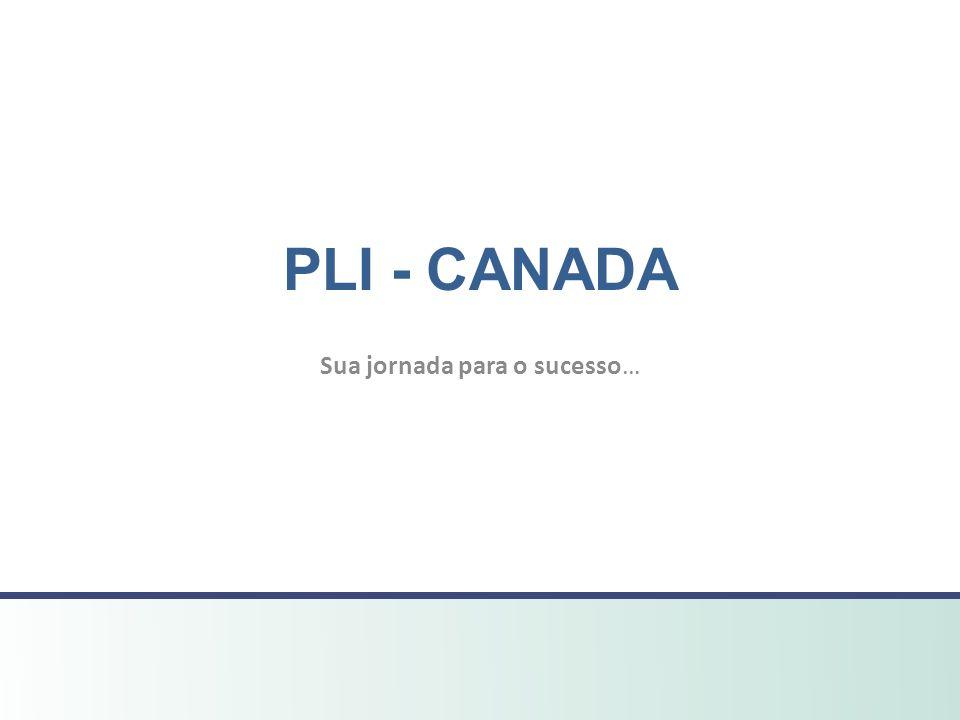 Sua jornada para o sucesso… PLI - CANADA