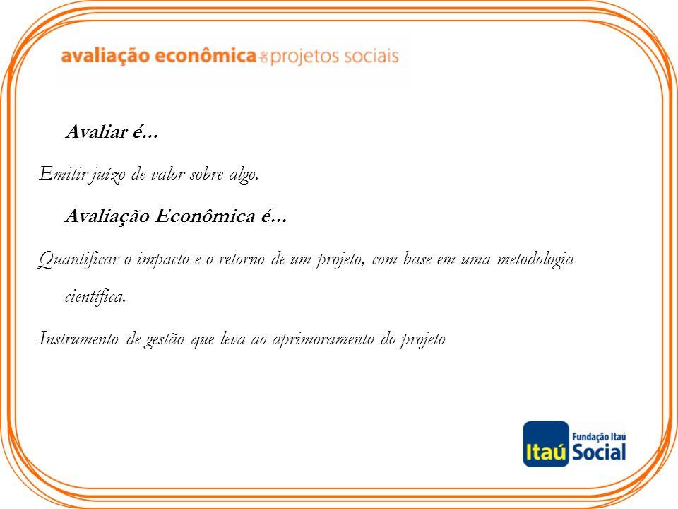 Plano de Aula Introdução à avaliação econômica de projetos sociais; Marco Lógico.