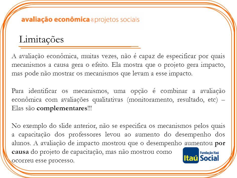 Retorno Econômico Os impactos do projeto justificam os custos.