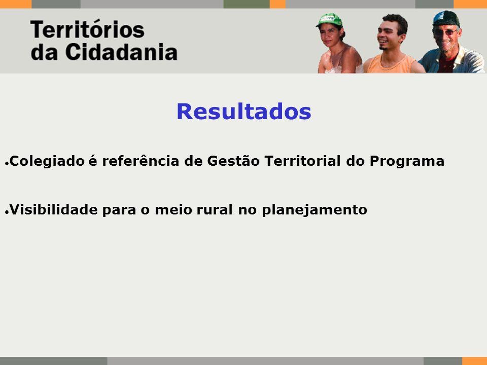Resultados Colegiado é referência de Gestão Territorial do Programa Visibilidade para o meio rural no planejamento