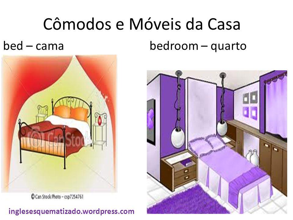 Cômodos e Móveis da Casa bed – cama bedroom – quarto inglesesquematizado.wordpress.com