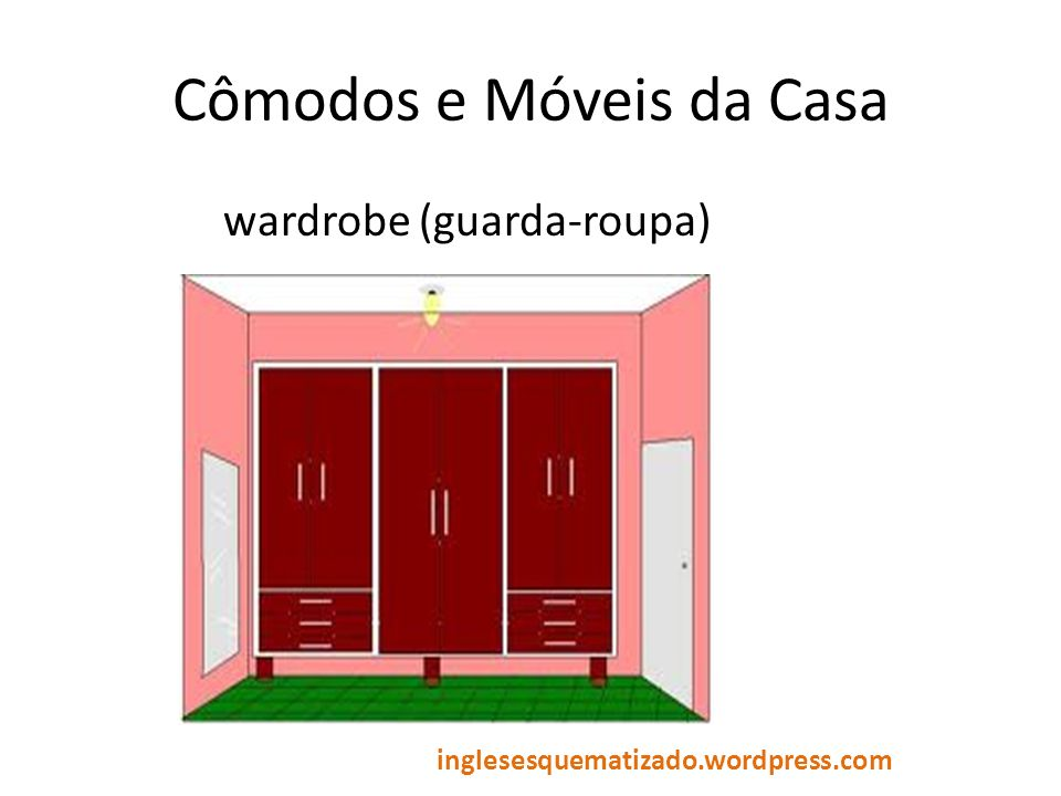 Cômodos e Móveis da Casa wardrobe (guarda-roupa) inglesesquematizado.wordpress.com