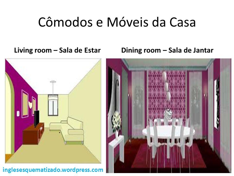 Cômodos e Móveis da Casa Living room – Sala de EstarDining room – Sala de Jantar inglesesquematizado.wordpress.com