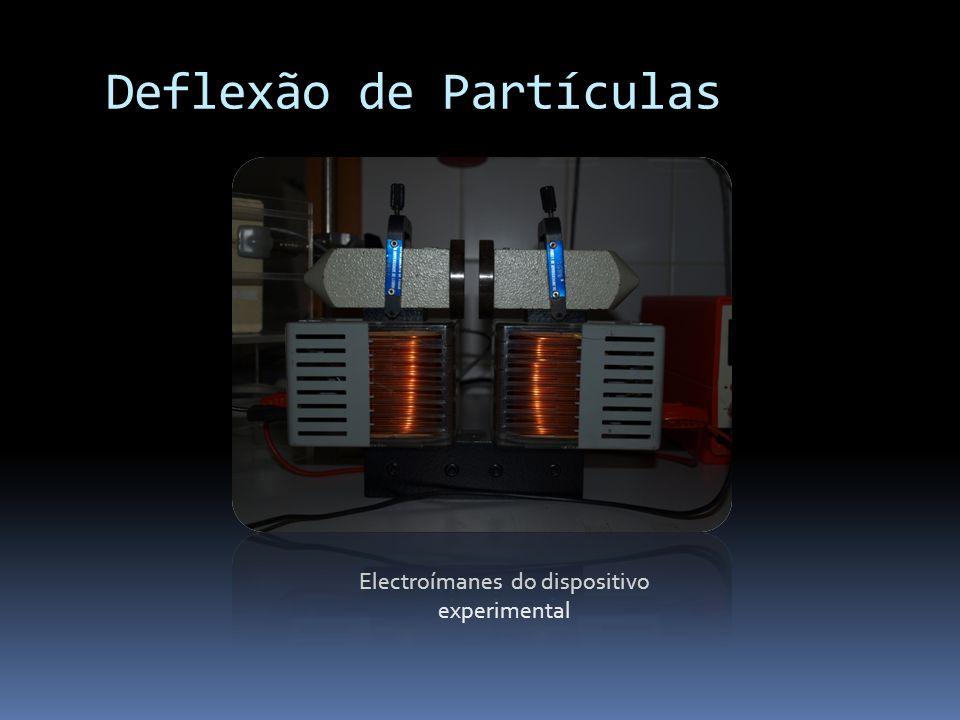 Deflexão de Partículas Electroímanes do dispositivo experimental