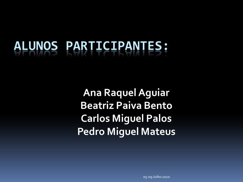 Ana Raquel Aguiar Beatriz Paiva Bento Carlos Miguel Palos Pedro Miguel Mateus 05-09 Julho 2010