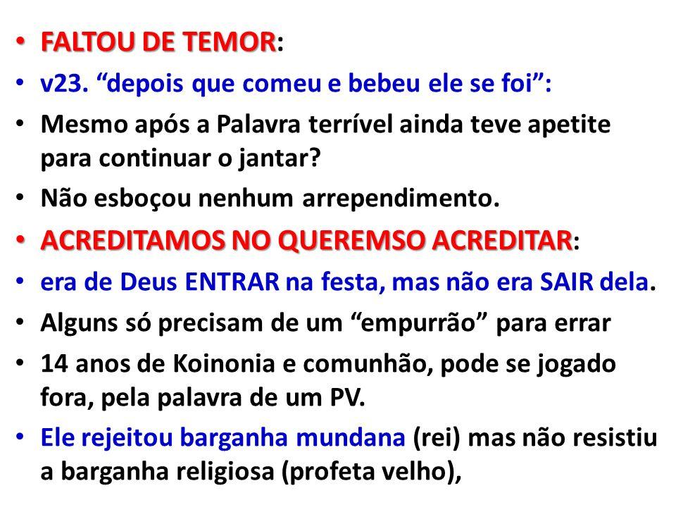 FALTOU DE TEMOR FALTOU DE TEMOR: v23.