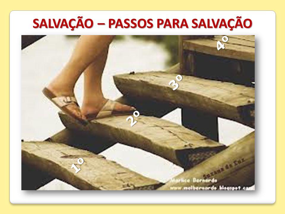 SALVAÇÃO – PASSOS PARA SALVAÇÃO 1º 2º 3º 4º 1º 2º 3º 4º