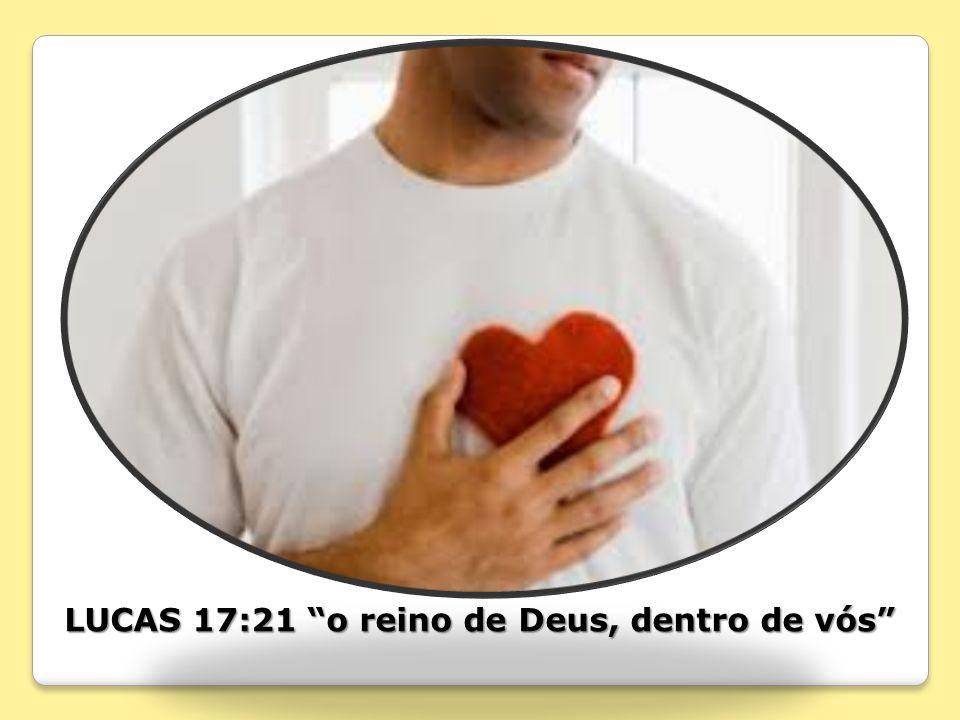 LUCAS 17:21 o reino de Deus, dentro de vós
