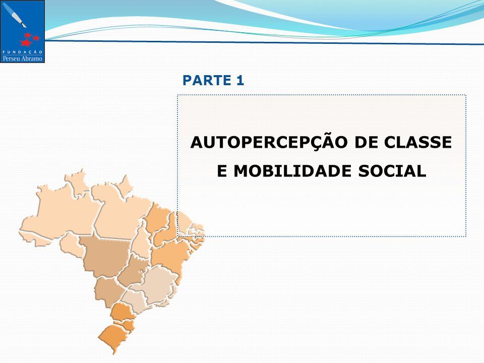 SÍNTESE DA AUTOPERCERCEPÇÃO DE CLASSES SOCIAIS POR ESTRATOS SOCIOECONOMICOS [ Estimuladas e únicas, em %] Base.