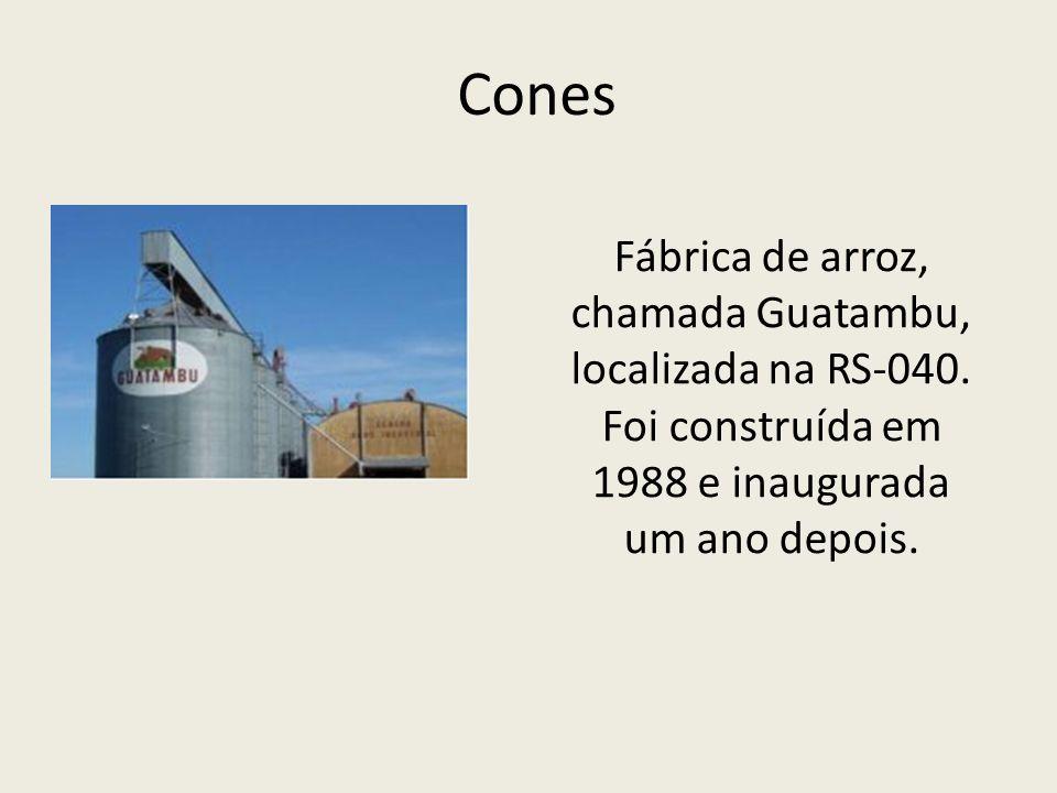 Cones Fábrica de arroz, chamada Guatambu, localizada na RS-040.