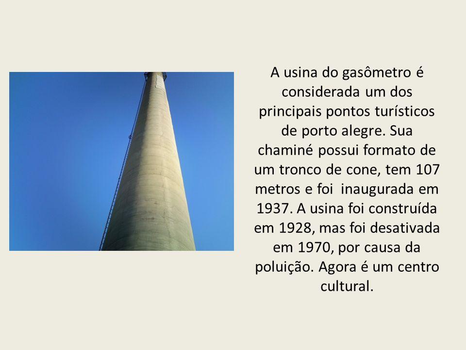 A usina do gasômetro é considerada um dos principais pontos turísticos de porto alegre.