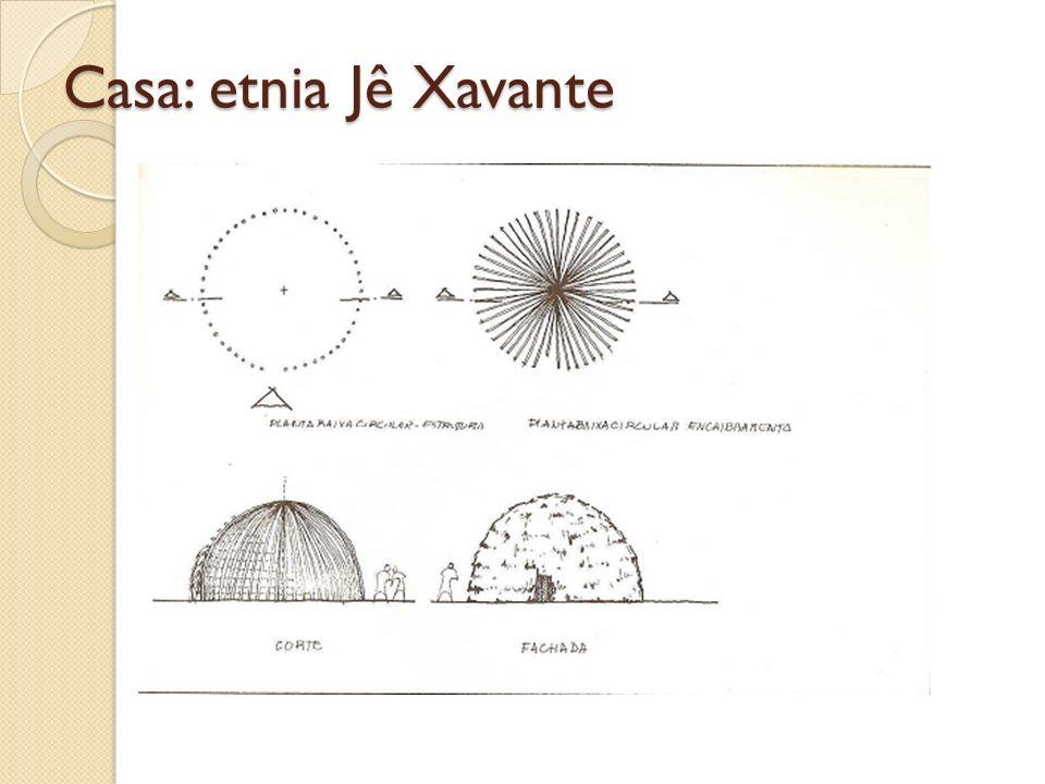 Casa: etnia Jê Xavante
