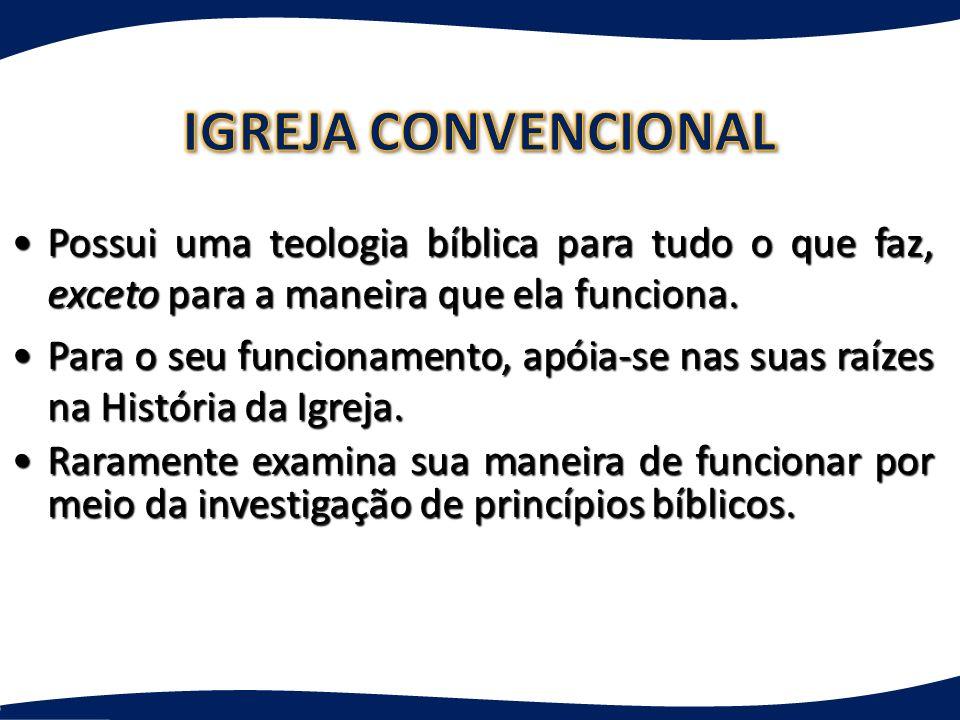 Possui uma teologia bíblica para tudo o que faz, exceto para a maneira que ela funciona.Possui uma teologia bíblica para tudo o que faz, exceto para a