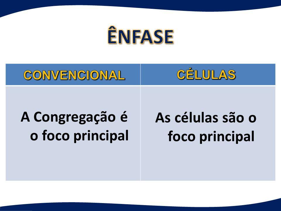 As células são o foco principal A Congregação é o foco principal
